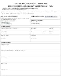 Security Guard Report Template Benvickers Co