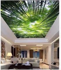 3d wallpaper mural home decoration bamboo sky ceiling 3d murals