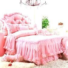 pink ruffle twin bedding set and grey purple lace ruffled sets romantic satin jacquard duvet pink ruffle bedding set