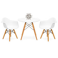 best choice s kids mid century modern mini eames style dining room round table set