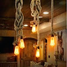 rope pendant light vintage hemp bulb decor lamp kitchen dining room hand knitted fixture in lights rope pendant light