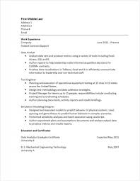 Data Analyst Resume Example Examples Of Resumes Analysis Image