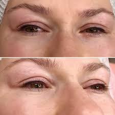татуаж стрелки на глазах фото до и после фото