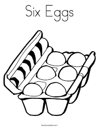 Small Picture Six Eggs Coloring Page Twisty Noodle
