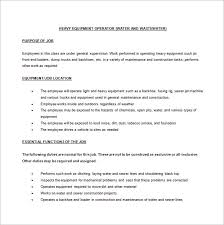 Job Description For Machine Operator Resume. Engineer Cover Letter
