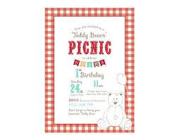 Picnic Template Free Picnic Invitation Template Teddy Bears Picnic Invitation