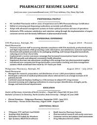 Pharmacist Resume Sample Amazing Pharmacist Resume Sample Writing Tips Resume Companion