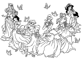 136 Dessins De Coloriage Princesse Imprimer Princesses Disney