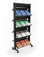 Single Book Display Stand Plastic Newspaper Holders Tabloid Stands Clear Black Silver 95
