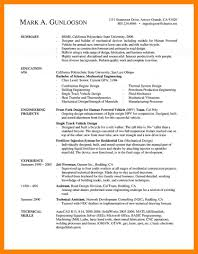Resume Examples Templates Mechanical Engineering Engineer Template