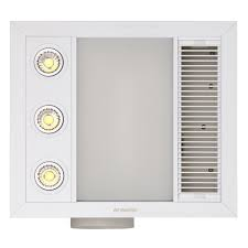 Bathroom 3 In 1 Lights Heaters Reviews Linear Mini 3 In 1 Bathroom Heater With Exhaust Fan And Led