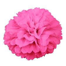 Paper Puff Ball Decorations Simple Hot Pink 32 Inch Puff Ball Decoration Hot Pink Tissue Paper And