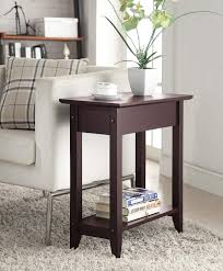 convenience concepts american heritage flip top end tray table espresso kitchen dining popular coffee tables broyhill