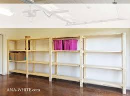 ana white concept of wall mounted garage shelving diy