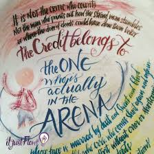 Daring Greatly Inspirational Art Print Of Theodore Roosevelt Quote