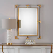 balkan modern gold wall mirror uttermost wall mirror mirrors home