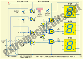 water level indicator seven segment display circuit diagram water level indicator seven segment display circuit diagram water level indicator using 7 segment
