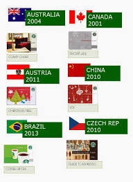 i am sure you have wondered which card was the first released in each countries starbucks card program well here they are