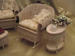 dollhouse outdoor furniture. Photo 3 Of 6 Dollhouse Miniature Wicker Patio End Table Click To Enlarge (awesome Furniture #3 Outdoor