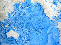 Ocean Depth Chart Ocean Floor Relief Maps Detailed Maps Of Sea And Ocean