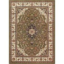 9x13 area rug medallion green 9 ft x traditional outdoor