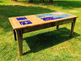 Stained Glass Coffee Table Buy A Custom Stained Glass Dining Table Made To Order From Hh