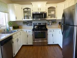 Small U Shaped Kitchen Remodel Kitchen Amusing Small Kitchen Remodel With Pink Wall And White