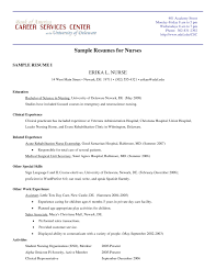 Gallery For Sample Student Resumes Nursing Student Resume Resume