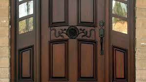 wood front doors modern
