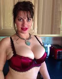 Big tits milf in bra