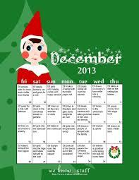 Elf On The Shelf Ideas Chart Www Weknowstuff Us Com Elf