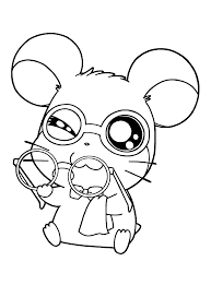 Small Picture Hamtaro Coloring Pages