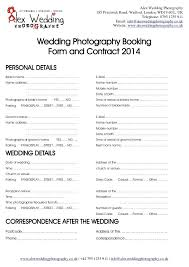 Photography Contracts Photographer Contract For Wedding
