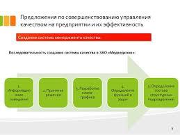 дипломная презентация по управлению качеством продукции  жизненного цикла продукции 8 Предложения по совершенствованию управления качеством на предприятии