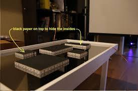 DIY infinity mirror table