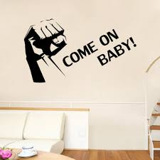 Small Picture Clenched Fist Wall Art Mural Decor Sticker Come On Baby Quote