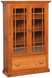 albany glass door bookcase