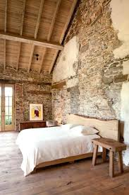 Stone Wall Interior Design Modern Bedroom With Stone Walls And Wooden  Ceiling Interior Stone Accent Wall Design
