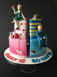 Two Birthday Cakes In One Fondant Cake Ideas In 2019 Cake