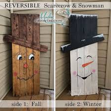 cool easy things to make out of wood. reversible scarecrow / snowman - from scraps of wood. cool easy things to make out wood r