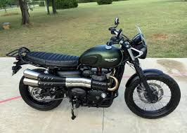 street scrambler anybody fitted one of the optional seats