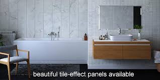 panel over the tiles in your bathroom