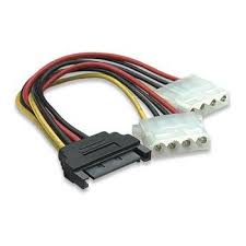 amazon com 6 sata 15 pin male to dual 4 pin molex female y this item 6 sata 15 pin male to dual 4 pin molex female y splitter manhattan 308977