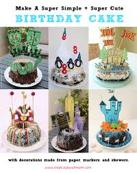 Make Super Simple And Quick Birthday Cake Decorations From Paper