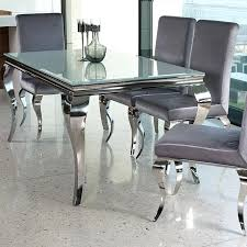 glass dining table set contemporary black or white glass chrome or white round kitchen table set
