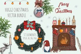 Hygge Christmas Bundle Vector Png Graphic By Komanna Art Creative Fabrica