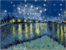 image detail for rhone a famous painting by vincent van gogh the animation end with