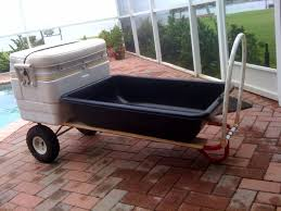 fill your cooler place it in the cradle you created between tub and dolly bottom and haul your gear out to the boat or the beach