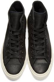 converse by john varvatos black leather ctas ii high top sneakers uk127
