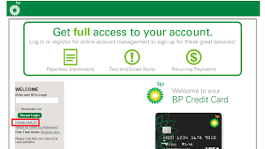 bp visa credit card login bill payment